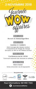 Horaire de la Journée Wow affaires du 3 novembre à Québec
